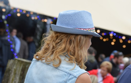 Stetson wearing lady at the 26th Annual Bluegrass Music Festival 2017