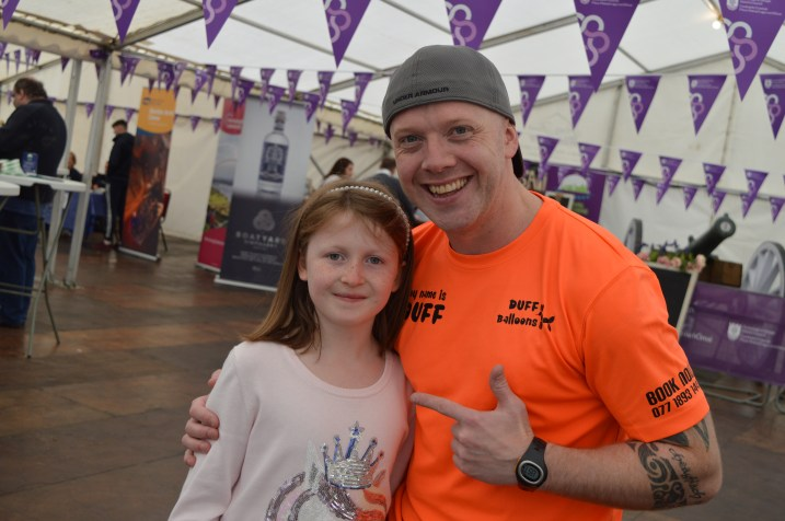 Ryan Duff and Lily-Belle at the Festival Lough Erne