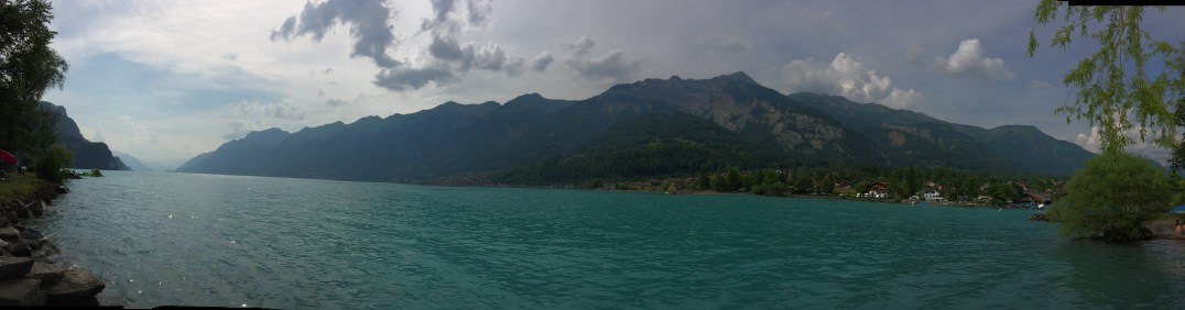 A view of Lake Brienz from Camping Aaregg in Switzerland