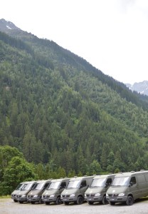 Swiss Military vehicles n the heart of the Swiss Alps
