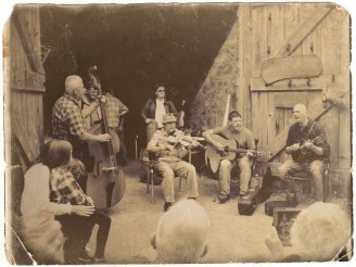 Geordie McAdam and band at the 26th Annual Bluegrass Festival In Omagh
