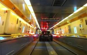 Eurotunnel shuttle from Folkestone to France