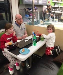Santa Claus Express in-car restaurant