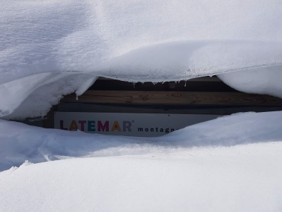 Deep snow at Ski Center Latemar in the Val di Fiemme