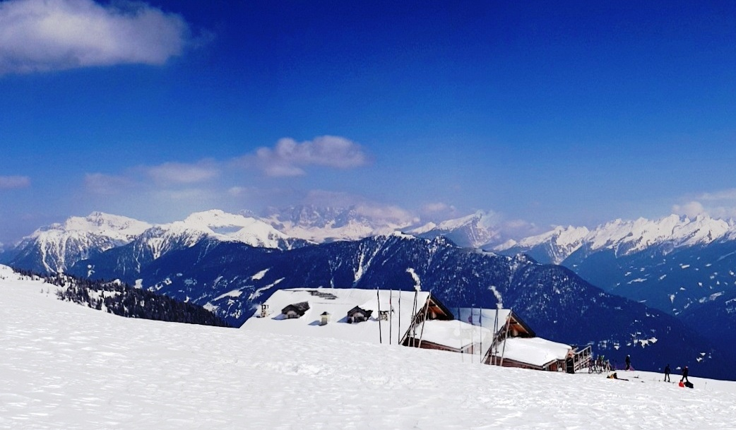A view of the Italian Dolomites from Ski Center Latemar in the Val di Fiemme