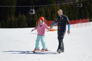 Ski lessons at Ape Cermis, Cavalese