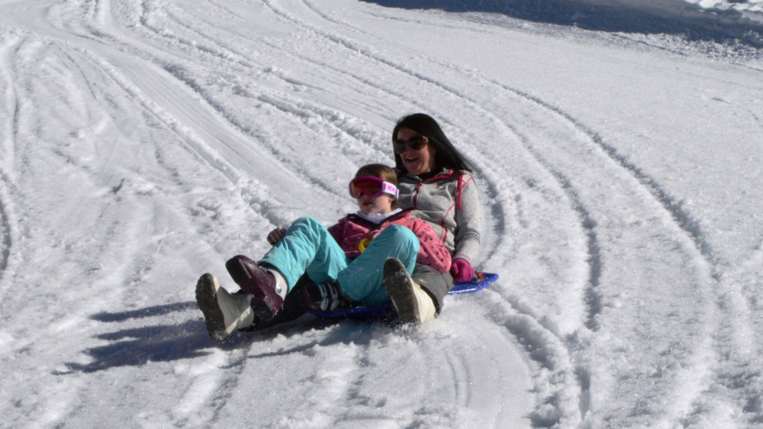 Sledding at Alpe Cermis, Cavalese