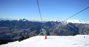 Chair lifts at Alpe Cermis in Cavalese