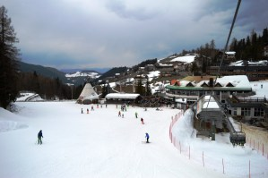 Obereggen: a view from the piste