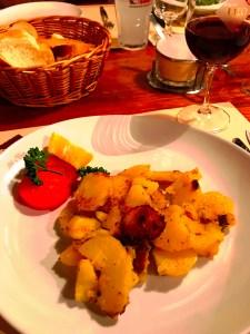 Sautéd potatoes served at Tito il Maso dello Speck