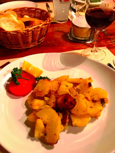 Sautéd potatoes served at Tito il Maso dello Speck