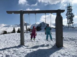 Swings at the top of Alpe Cermis
