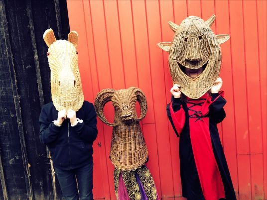 Wicker heads at Halloween Family Festival Cultra 2018