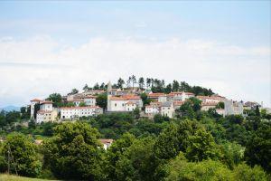 Slovenian town on a hill