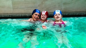 The Callaghan Posse enjoying the jacuzzi at Aparthotel Des Alpes