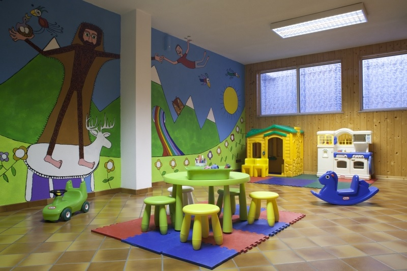Playroom at Aparthotel Des Alpes in Cavalese