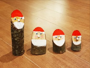 Making Santa ornaments at Winter Wonderland in Westport House, County Mayo