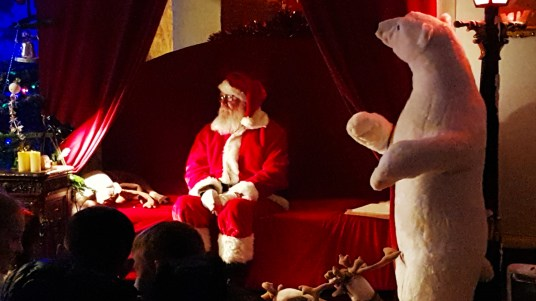 Santa Claus at Winter Wonderland in Westport House, County Mayo