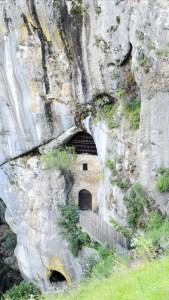 Secret exit at Predjama Castle, Slovenia