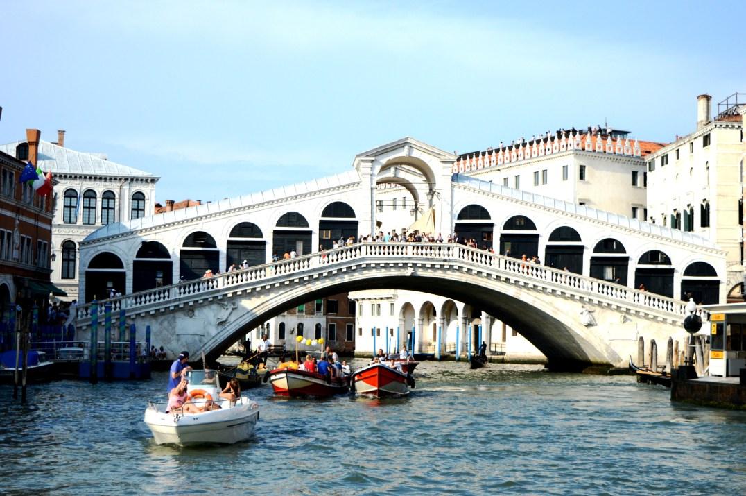 Rialto Bridge which crosses over the Grand Canal in Venice