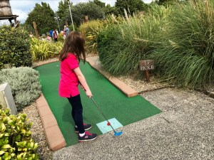 Hole 1 at Blackbeard's Adventure mini-golf course at Pirates Adventure Golf, Dundonald