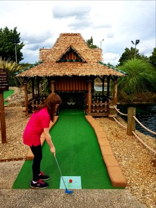Hole 18 at pirates Adventure Golf in Dundonald