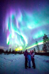 A spectacular display from the Northern Lights in Finland