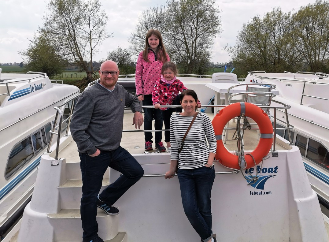 The Callaghan Posse at Le Boat Benson on the River Thames