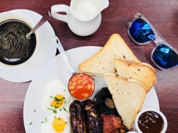 Breakfast at Café Rouge in Windsor;