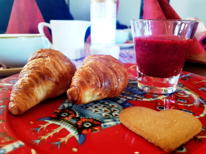 Breakfast at 3 Elves Restaurant at Santa Claus Holiday Village in Rovaniemi, Finnish Lapland