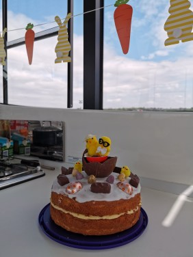 Easter cake on board the Horizon 4 with Le Boat