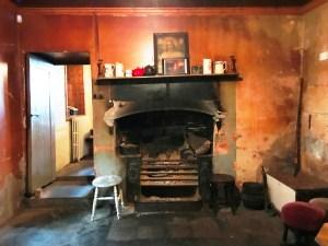 Queen Victoria Regina fireplace in Luker's Bar at Shannonbridge
