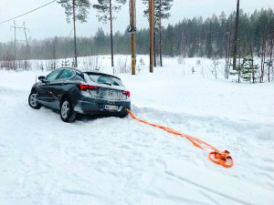 Stuck in the snow in Rovaniemi