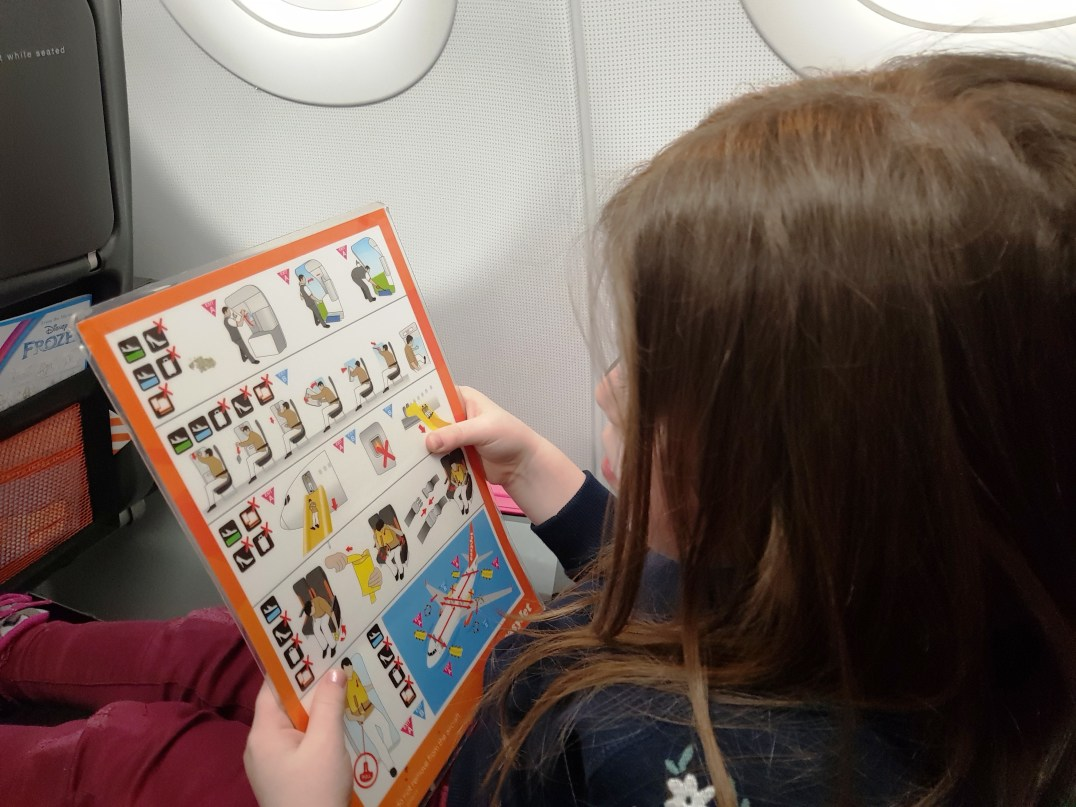 Reading on board an Easyjet flight