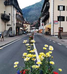 Main street in central Predazzo