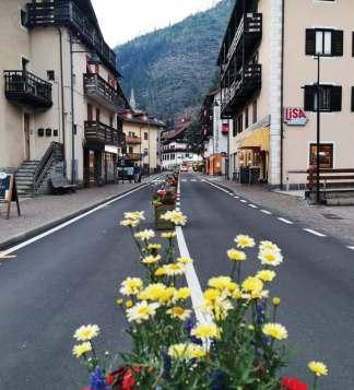 Main street in central Predazzo