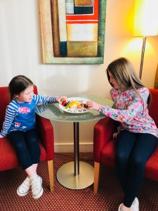 Enjoying sweet treats at CityNorth Hotel in Dublin