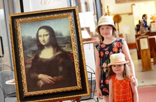Mona Lisa reproduction at the Leonardo da Vinci Museum, Florence