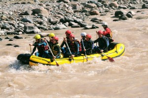 Floating down the Torrente Avisio River with Avisio Rafting