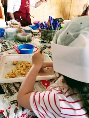 Matilda at the Little Delicacies Workshop at Rifugio Monte Agnello in Pampeago