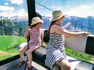 Rising the Cable car to Giro D'Ali Parco Giochi sull'Acqua cable car
