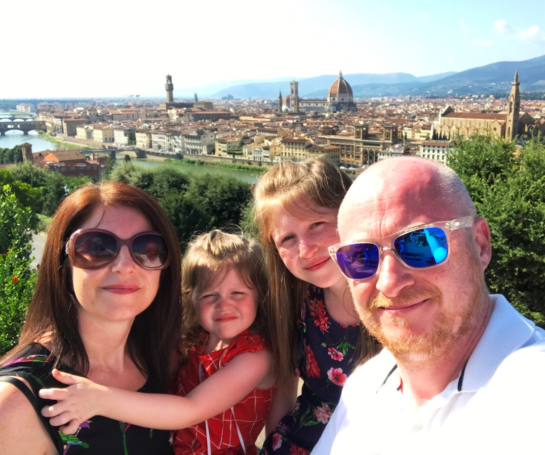 Selfie looking out over the Historic Centre of Florence