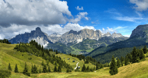 A view of Val di Fiemme, Trentino, Italy
