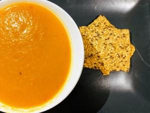 Pumpkin Soup with Seeded Crispbread