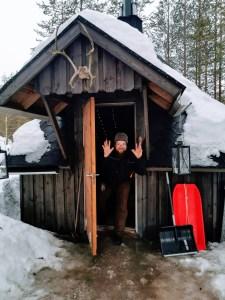 Hannu, all round fun guy at Vaara Reindeer Farm in Ranua, Finland