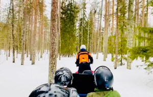Snowmobile ride at Ranua Zoo in Finnish Lapland