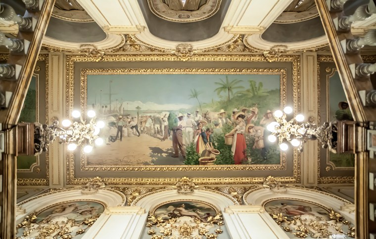 photograph of The ceiling of the National Theater, San Jose, Costa Rica.