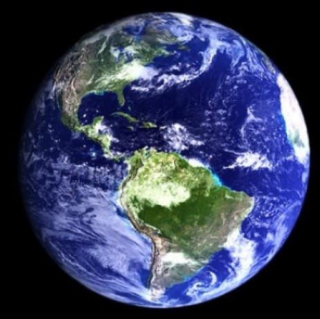 photograph of the earth as seen from space