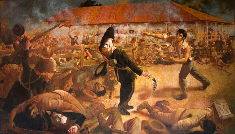 The Battle of Hacienda San Jacinto 1856, by Luis Vergara Ahumada
