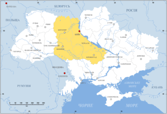 map of Right Bank Ukraine 17th century.